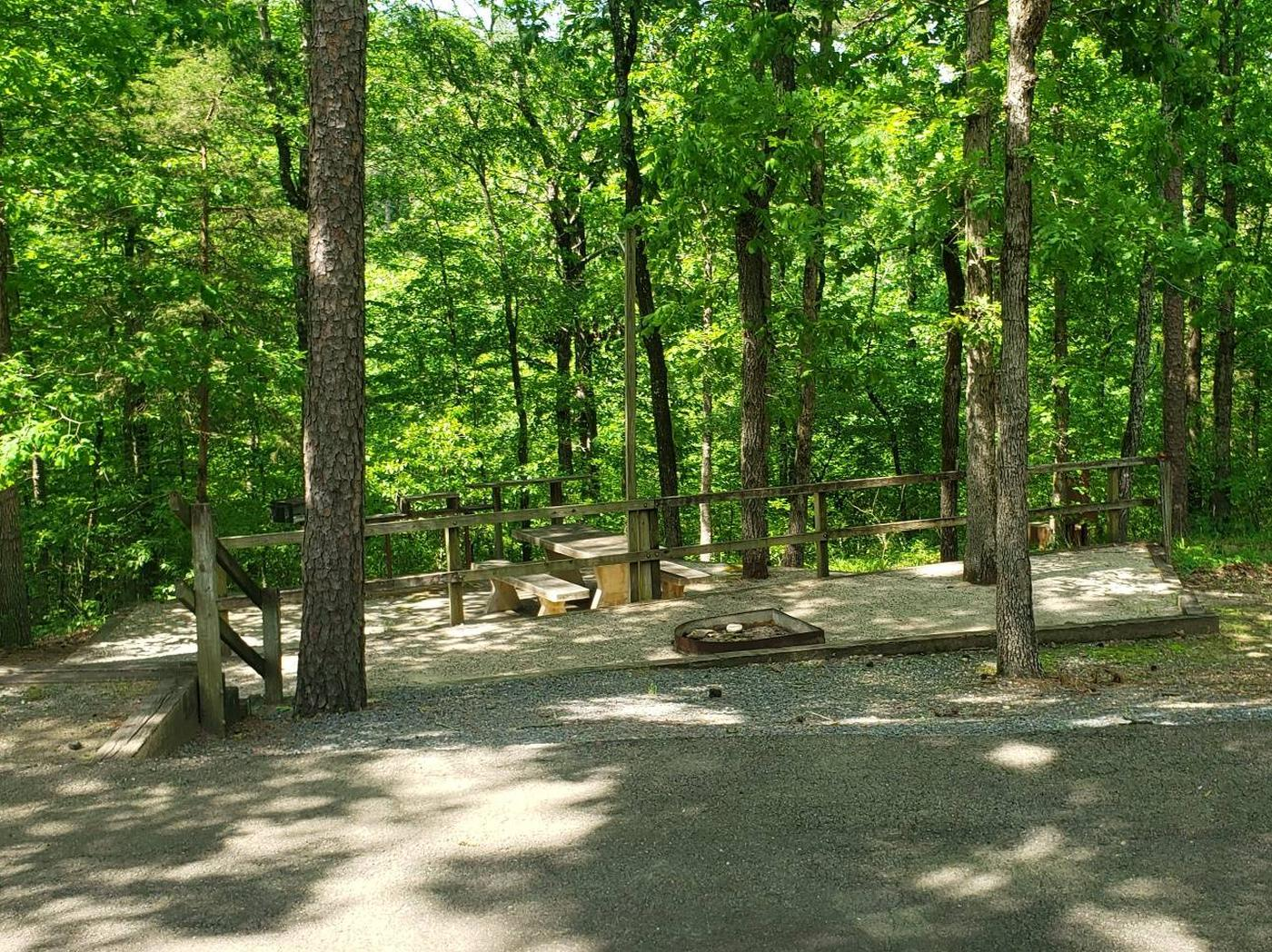 Jefferson Ridge Site 75Campsite 75