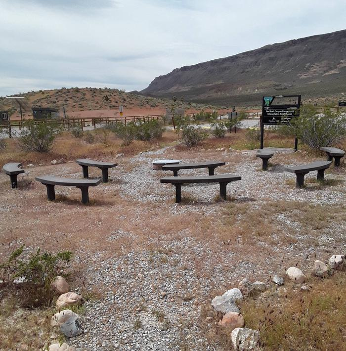 Sitting area at the Red Rock Amphitheater