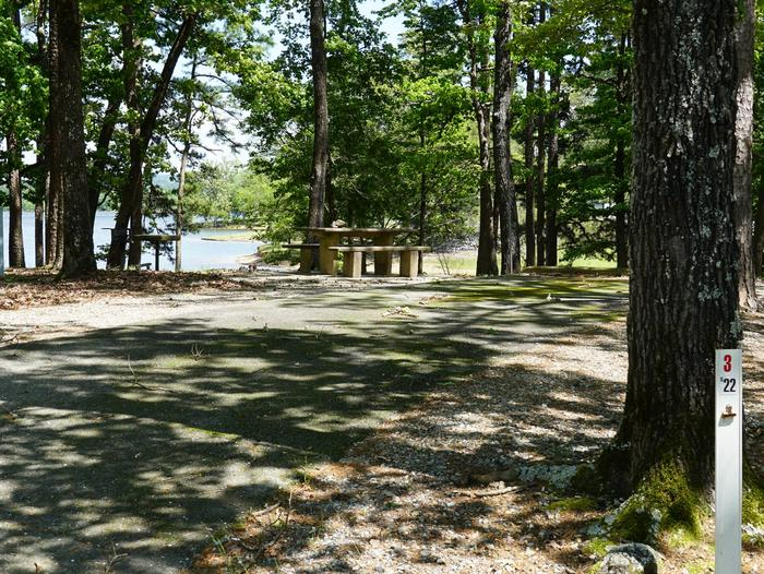 Tompkins Bend Campground, campsite # 3