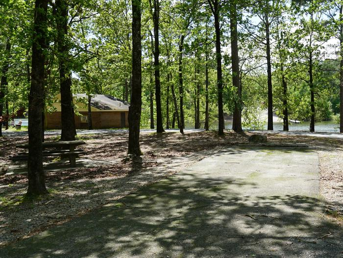 Tompkins Bend Campground, campsite # 6