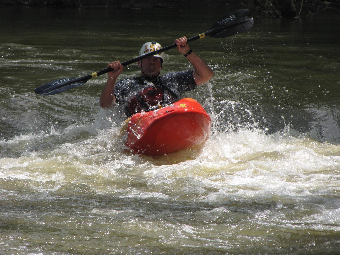 Kayaker at Horseshoe Bend