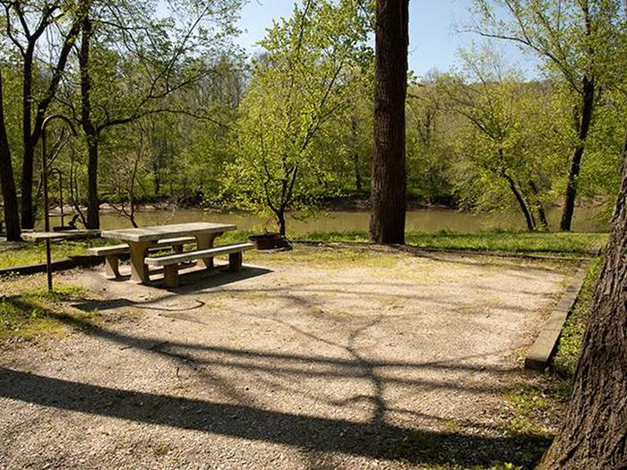 Campsite number 6, has a view of the Green River, the campsite has a picnic table and fire ring. Campsite number 6, has a view of the Green River, the campsite has a picnic table and fire ring.