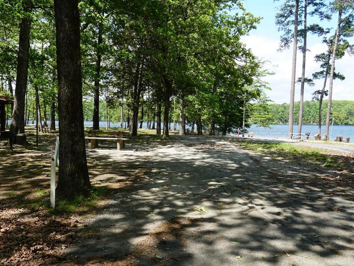 Tompkins Bend Campground, campsite # 19
