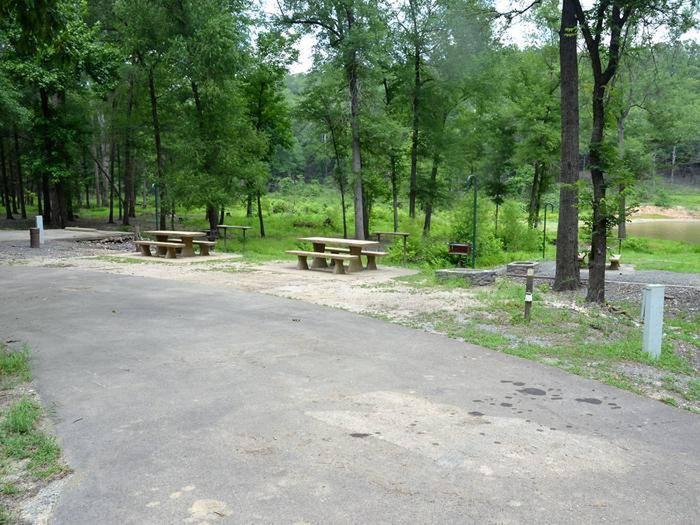 Gillham Lake, Big Coon Creek Campsite # 27Campsite #27