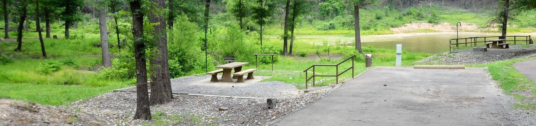 Gillham Lake, Big Coon Creek Campsite # 26Campsite #26