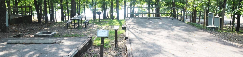 Gillham Lake Big Coon Park Campsite # 19Campsite #19