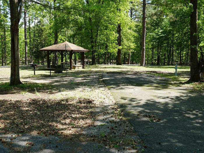Tompkins Bend Campground, campsite # 52