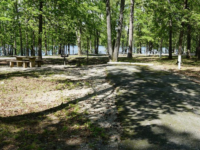 Tompkins Bend Campground, campsite # 57