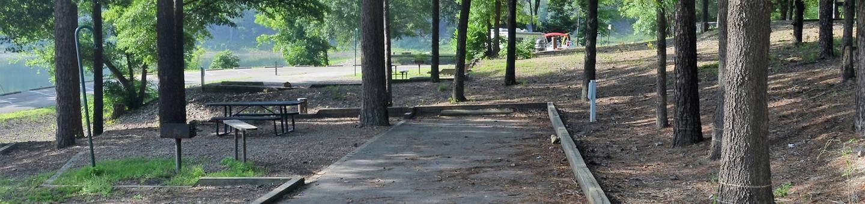 Gillham Lake, Big Coon Creek Campsite # 03Campsite #03