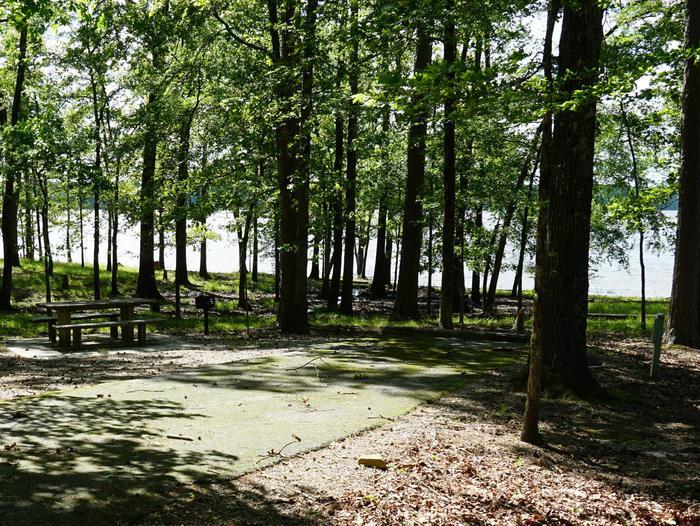 Tompkins Bend Campground, campsite # 66