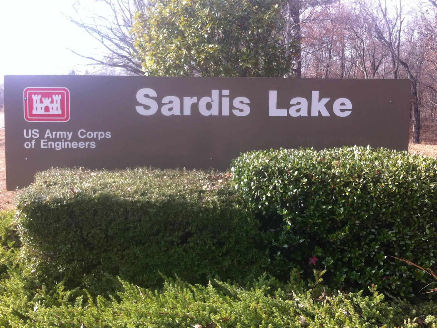 Sardis Lake Entrance SignWelcome to Sardis Lake