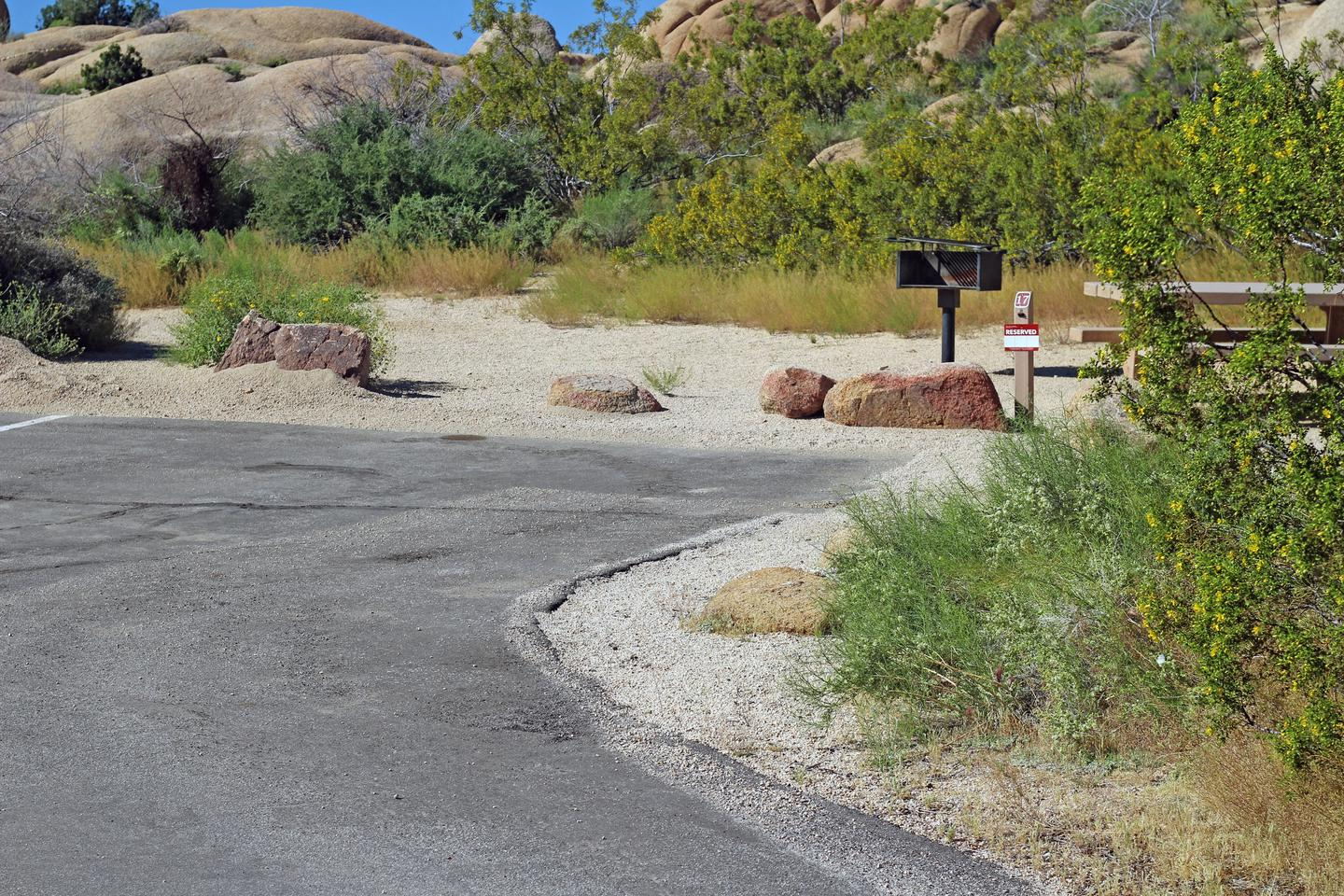 Parking for campsite