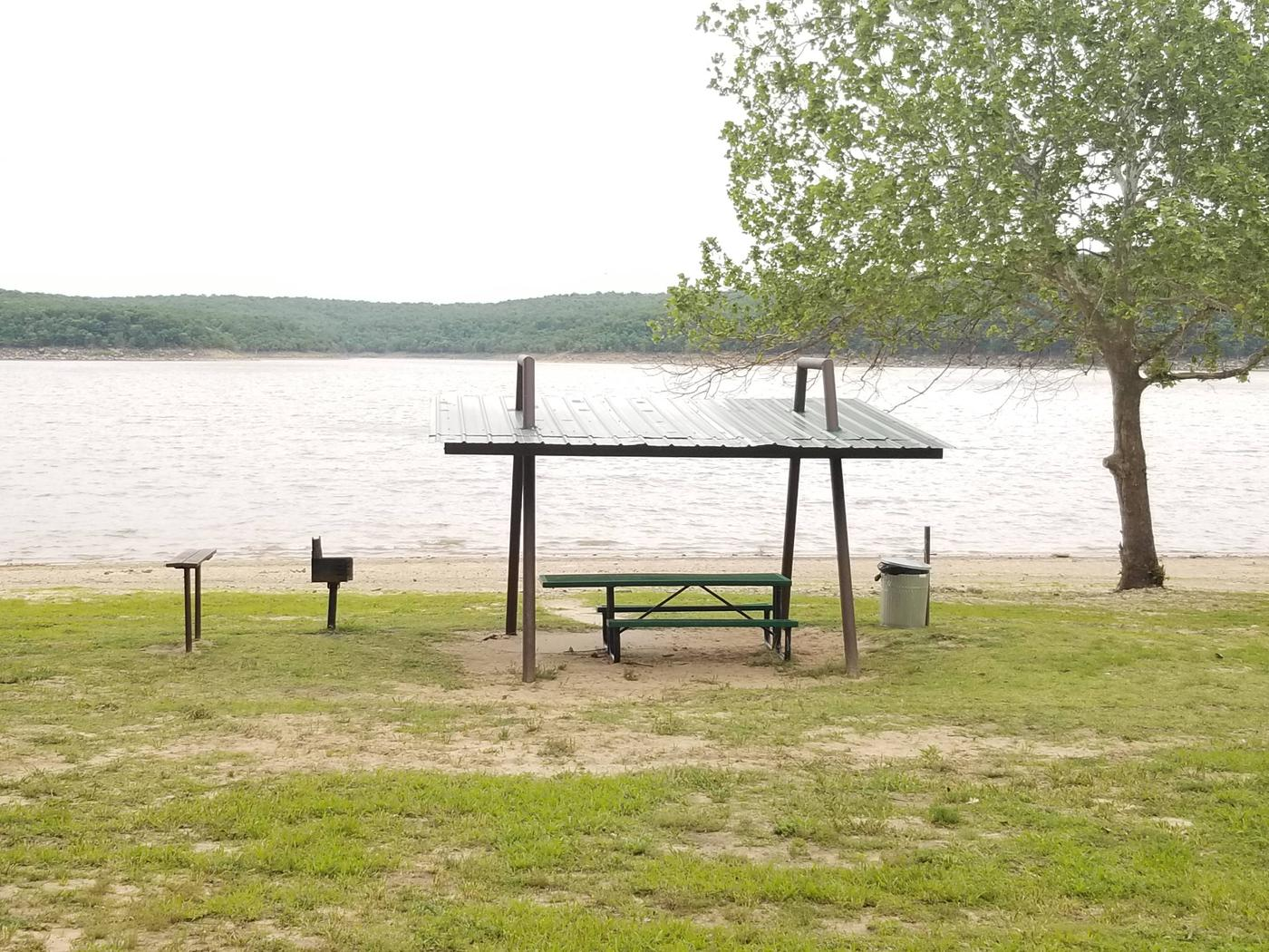 Swim Beach Group ShelterThis picnic shelter is located in the swim beach area.