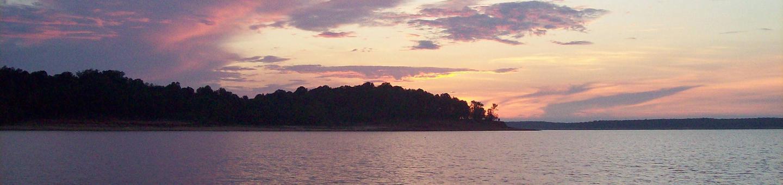 Sunset along the southern shoreline of Sardis LakeSunset at Sardis Lake