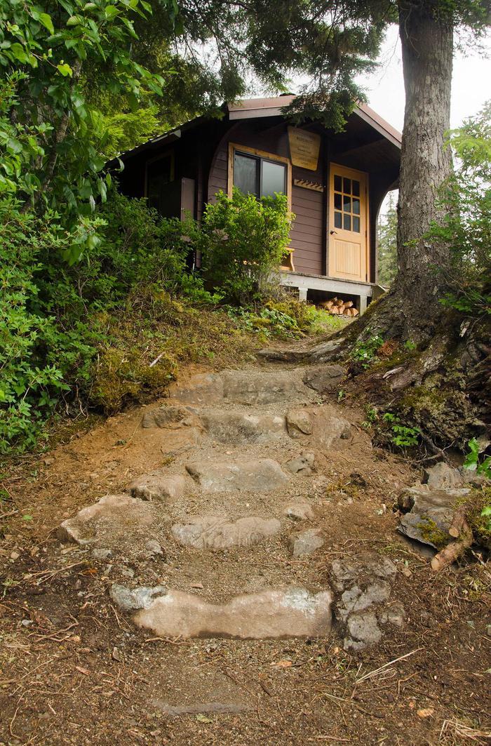 Jims Lake stone stepsstone steps