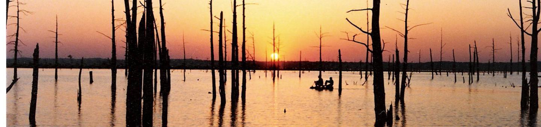 Sunset on Sardis Lake