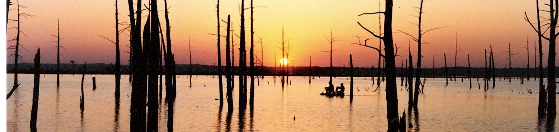 Sunset at Sardis Lake