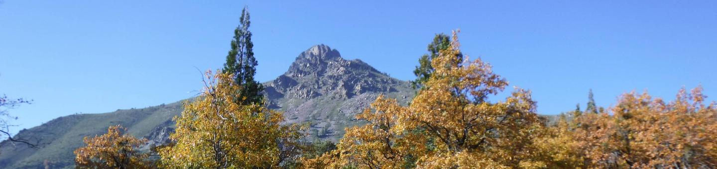 View of Sierra Buttes from Entrance
