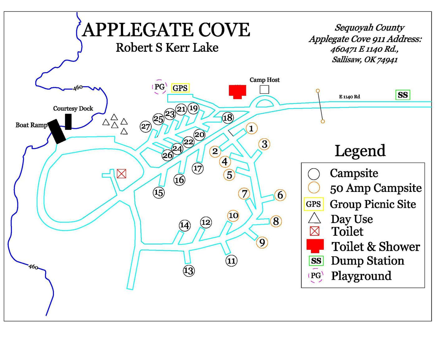 Applegate MapPark Map