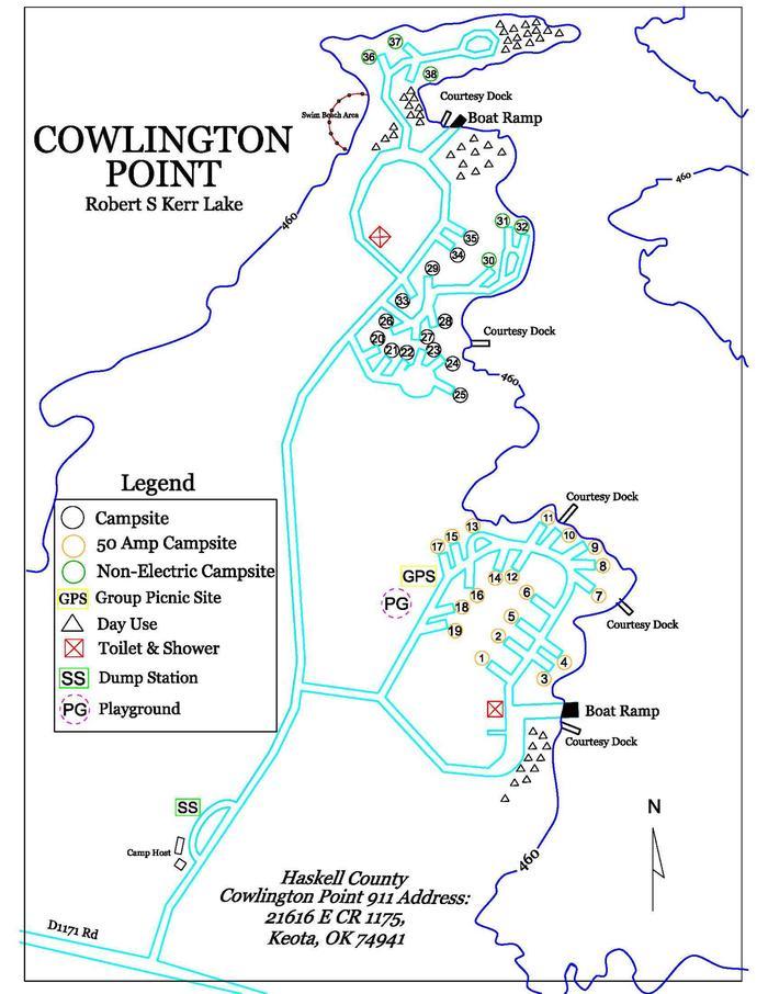 Cowlington Point MapPark Map