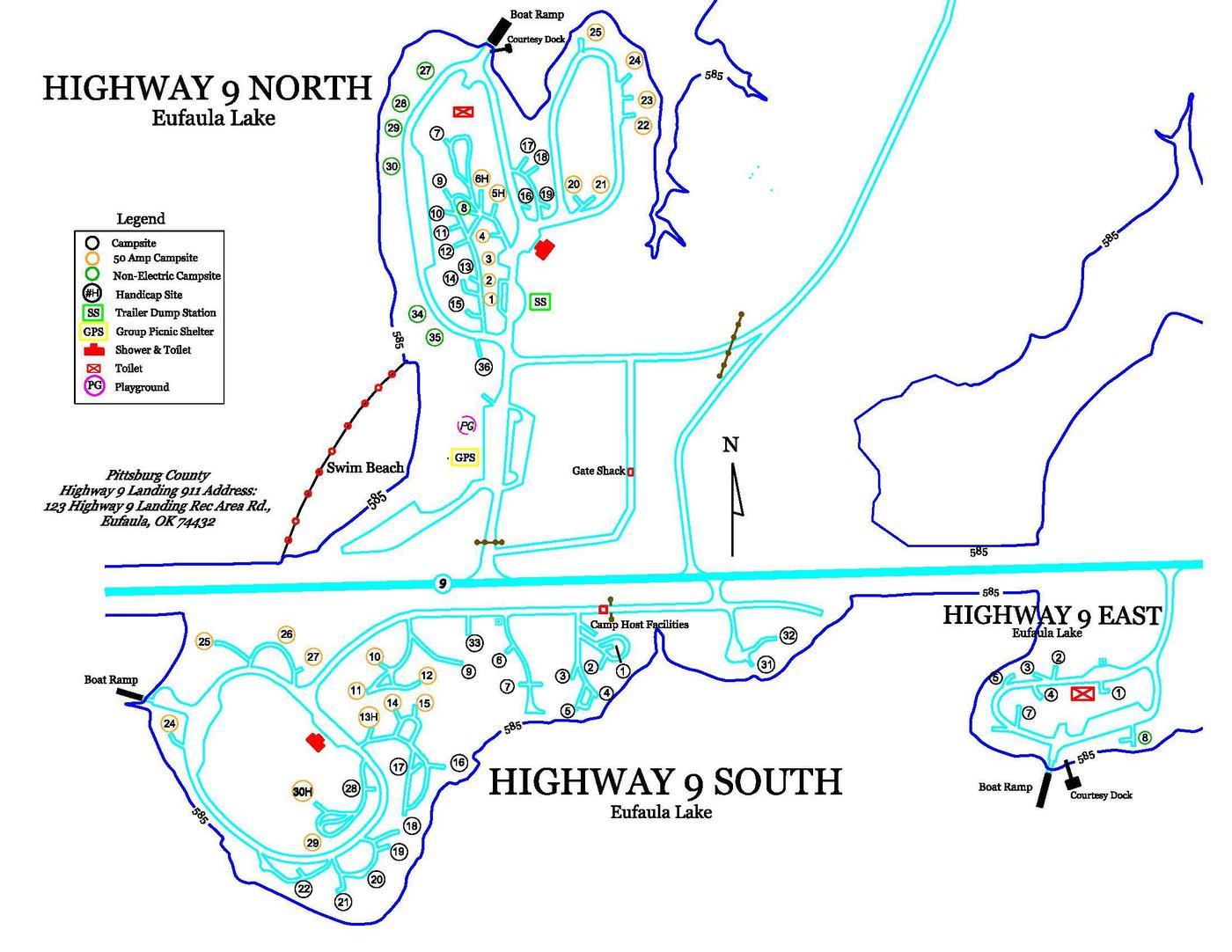 Highway 9 Landing MapPark Map