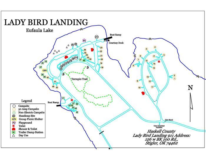Ladybird Landing MapPark Map