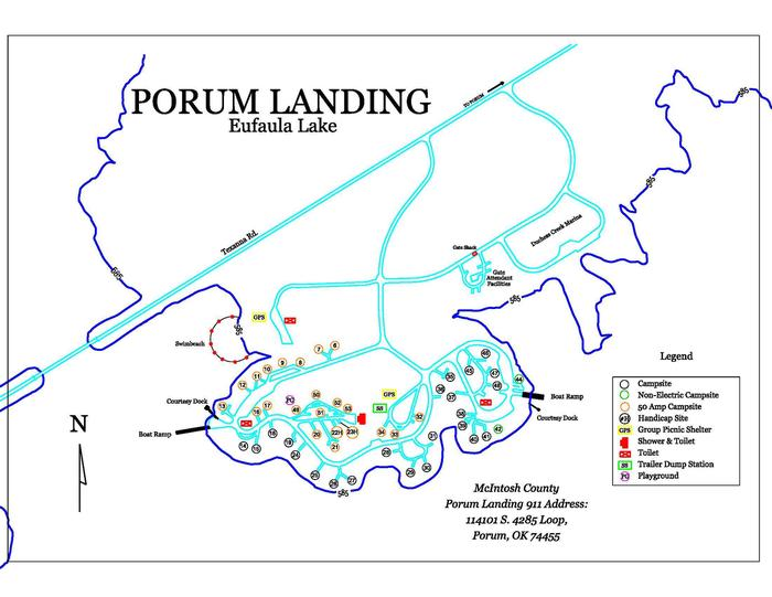 Porum Landing MapPark Map