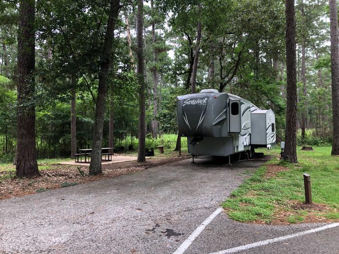 Camp siteRV hookup at campsite