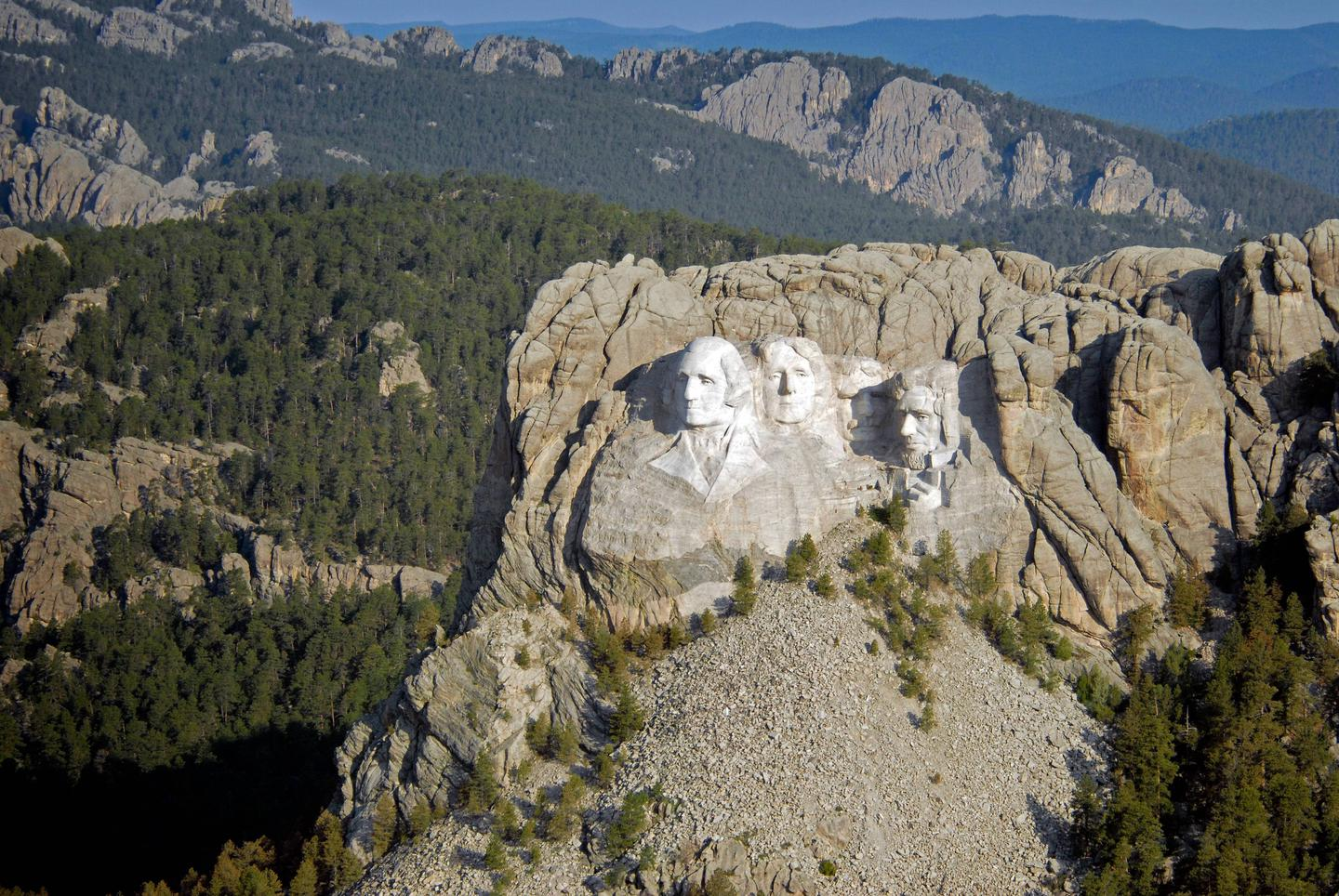 A view of Mount Rushmore National Memorial
