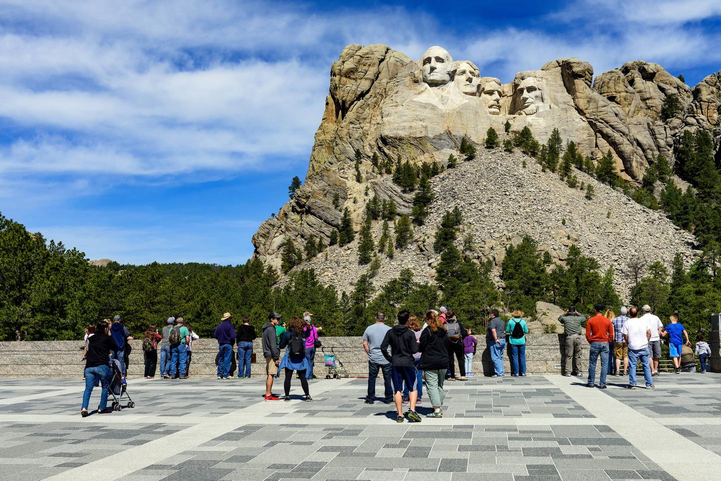 Mount Rushmore National Memorial visitorsVisitors at Mount Rushmore National Memorial