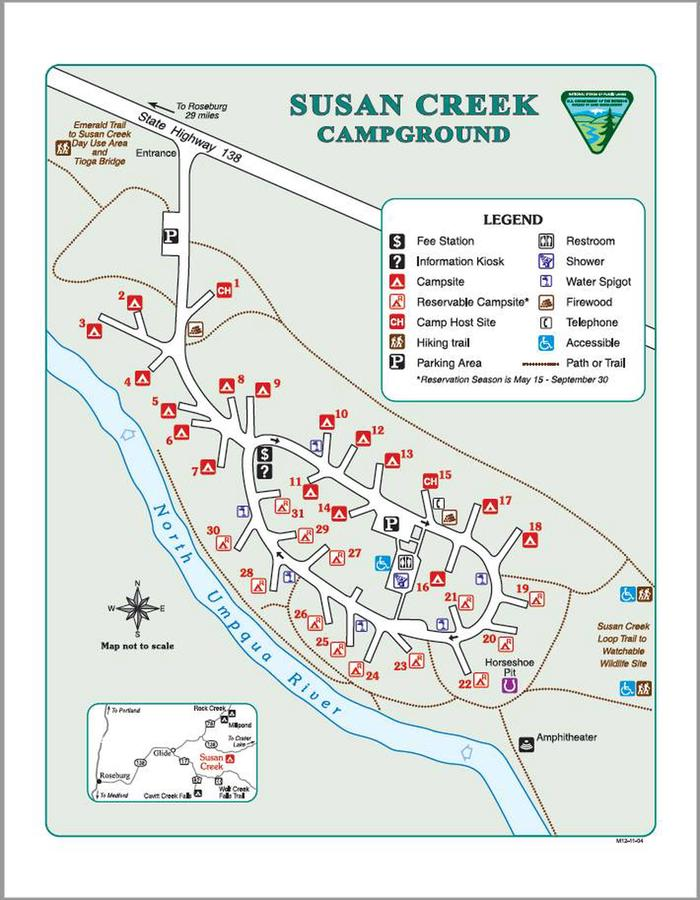 Campgroundsite map