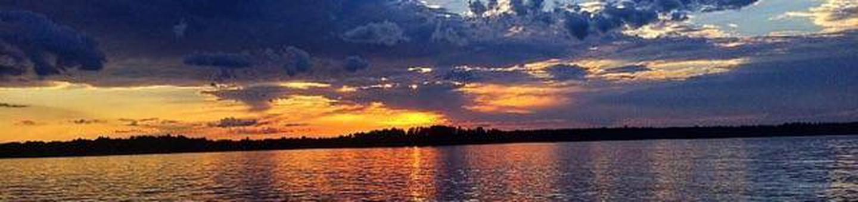 Sunset Sunsets at Cross Lake Recreation Area