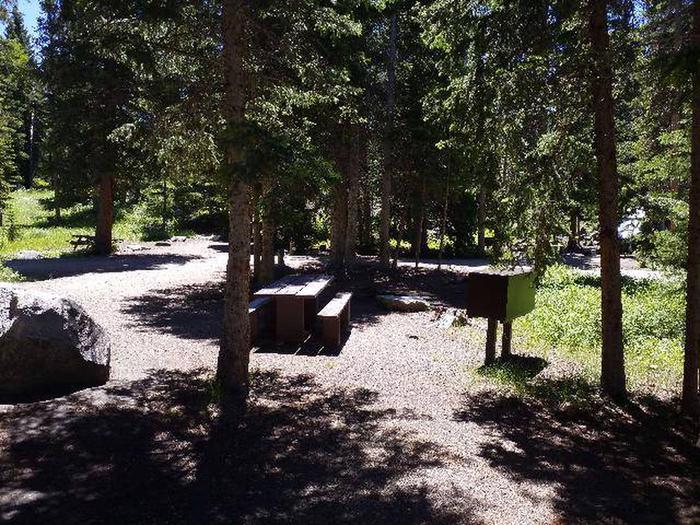 Hunter Peak Campsite 7 Back