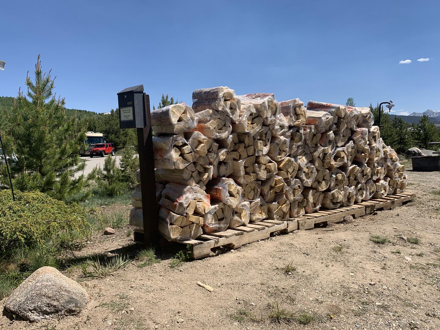 Firewood available at camp host