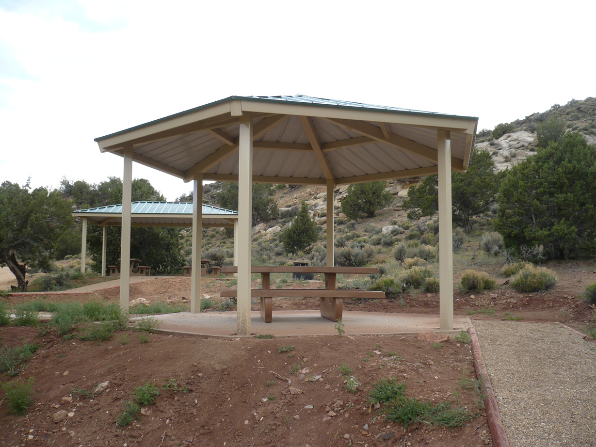 Shelters at Stateline Campground