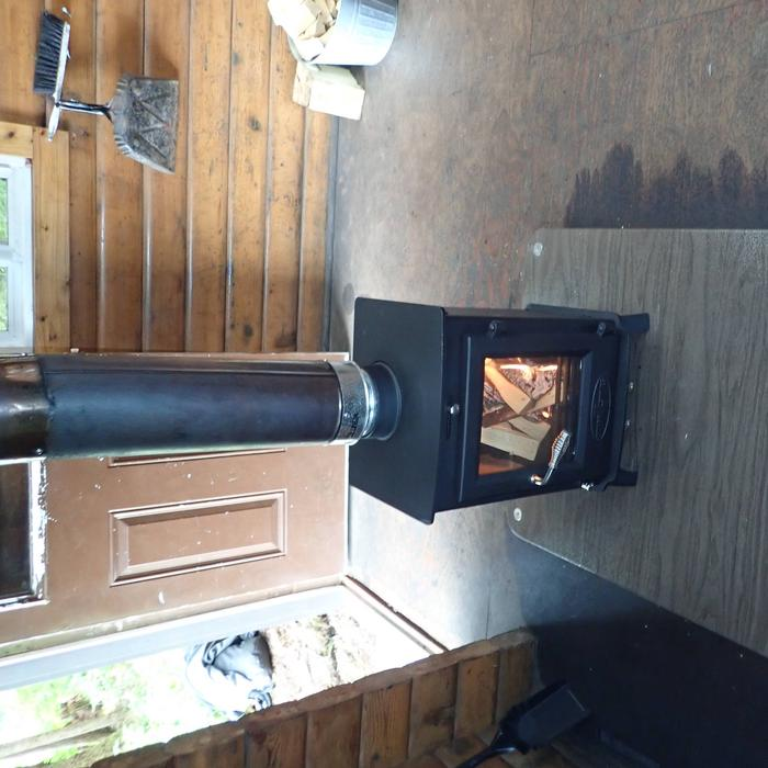 New Wood StoveNew wood stove at Fish Creek