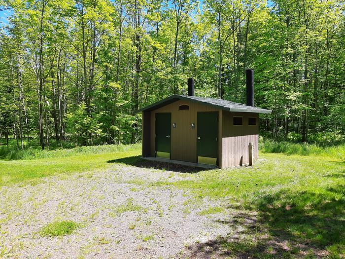 Vault ToiletVault toilet in Black River Harbor Campground.