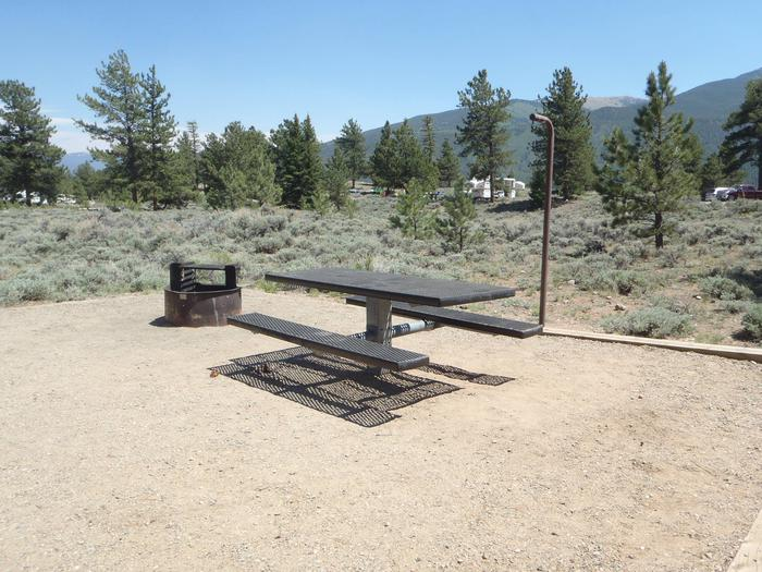 Whitestar Campground , site 1 picnic table
