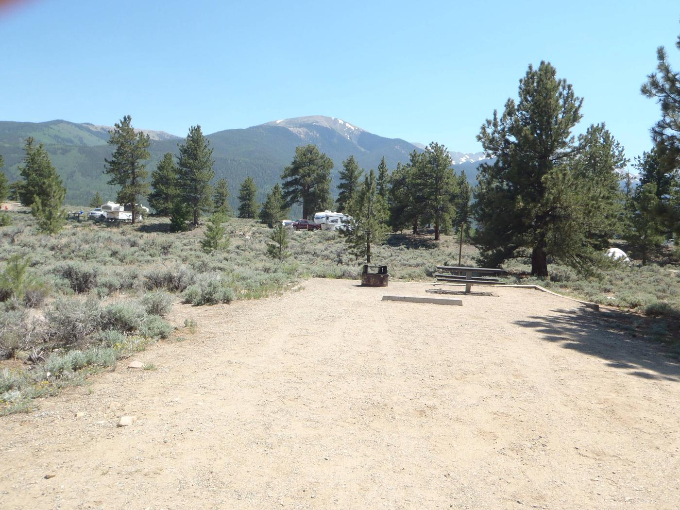 Whitestar Campground,  site 1 parking and fire ring