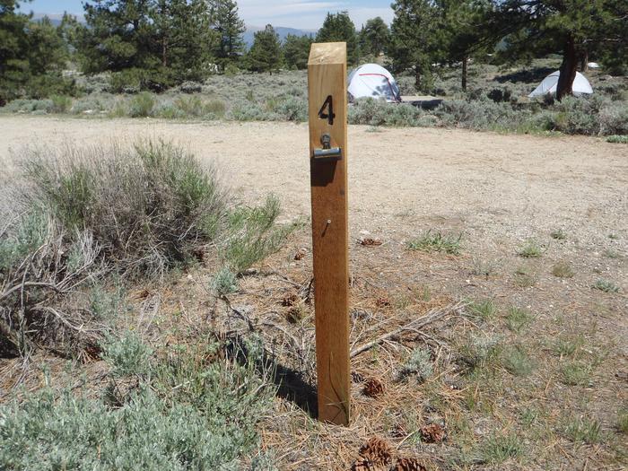 Whitestar Campground,  site 4 marker