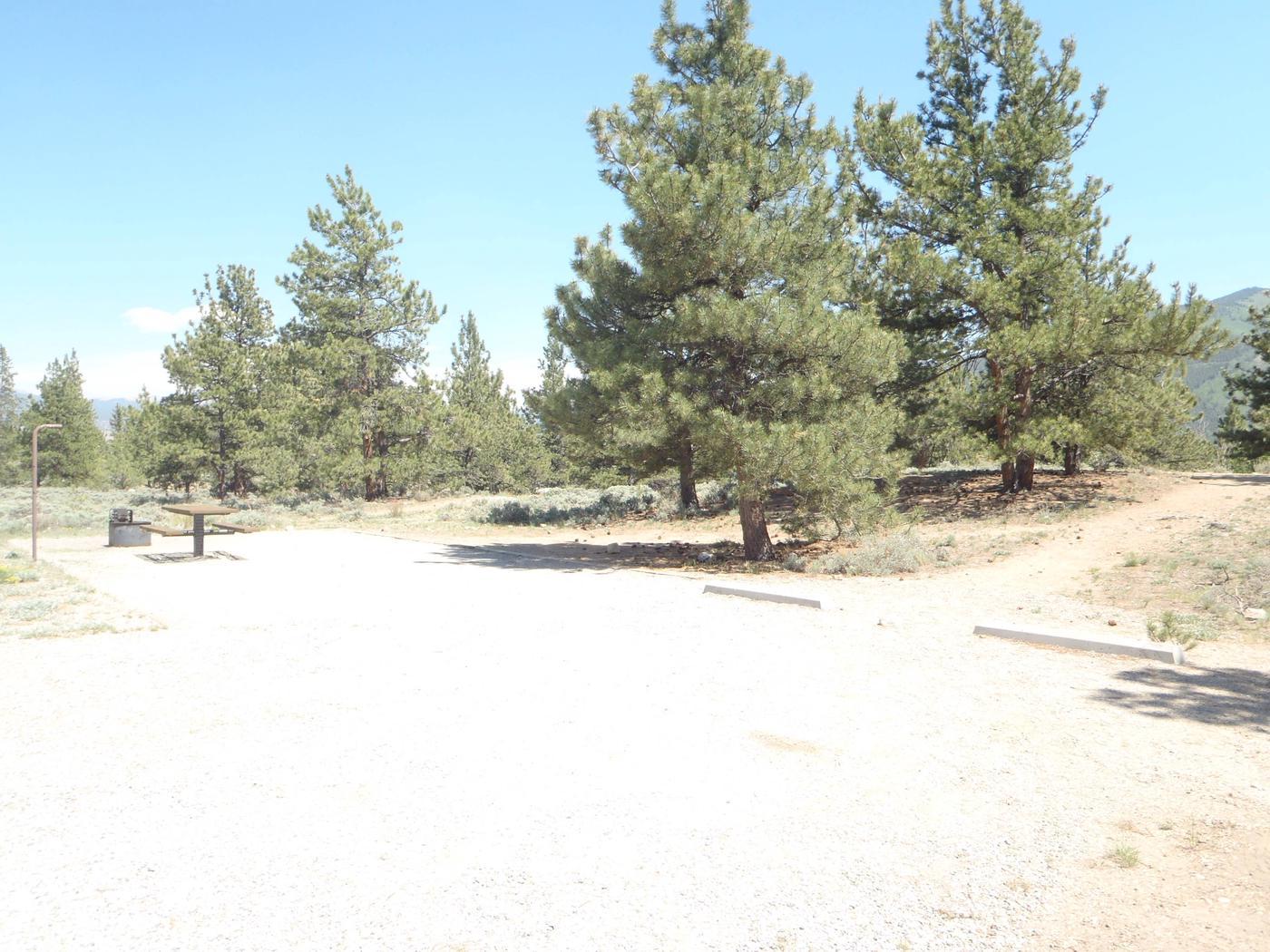 Whitestar Campground,  site 18 parking