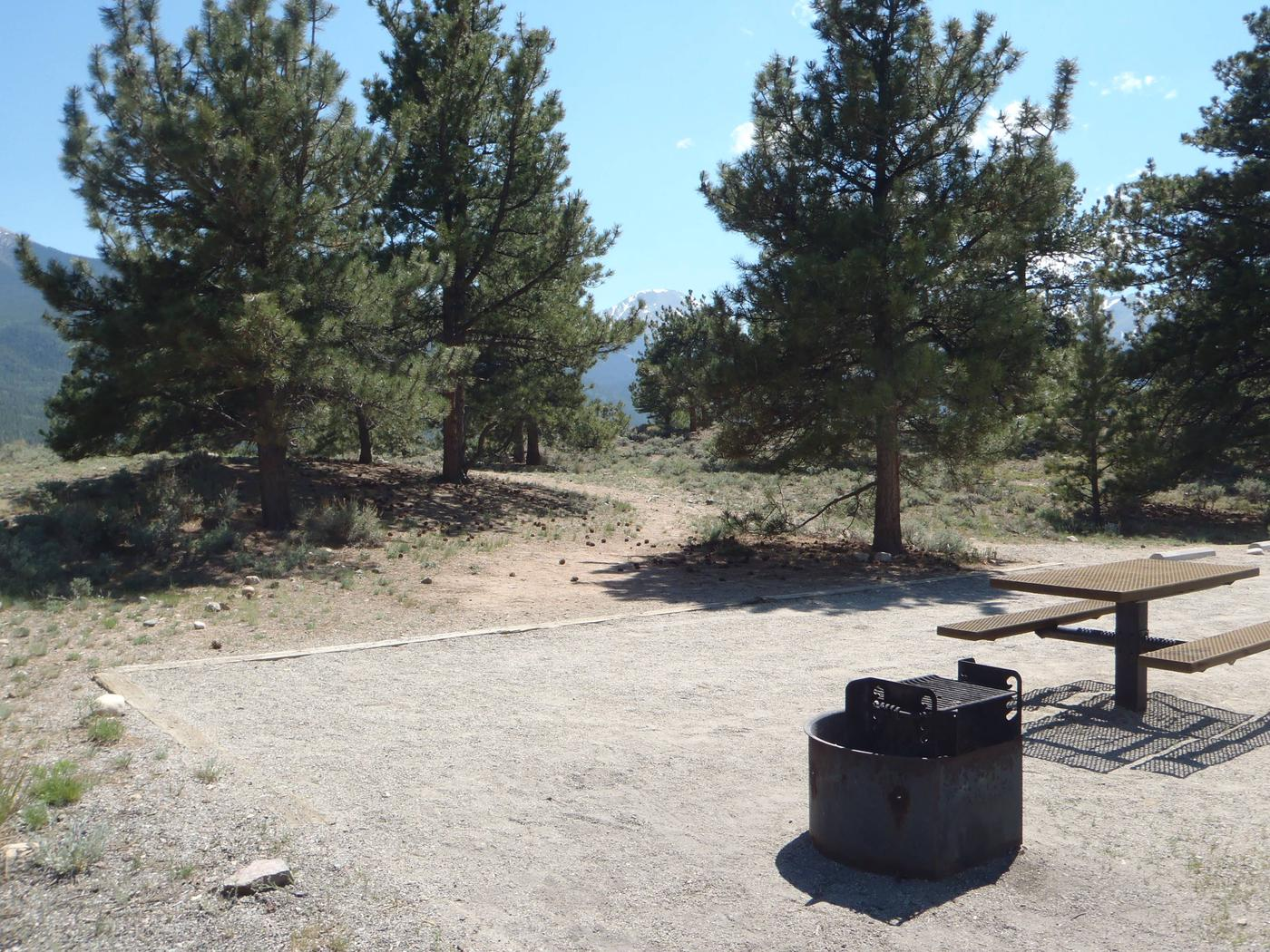 White Star Campground, site 18 tent pad