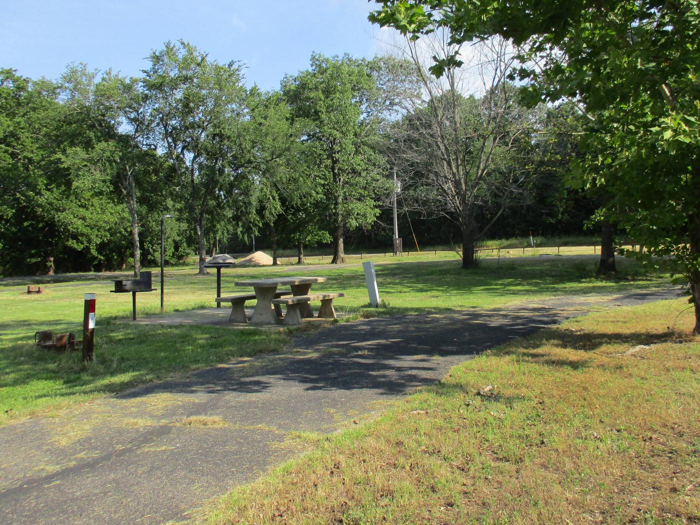Site 7 has a shaded picnic area in the afternoon.Site 7 has a large grassy area for extra tents or room for the kids to play.