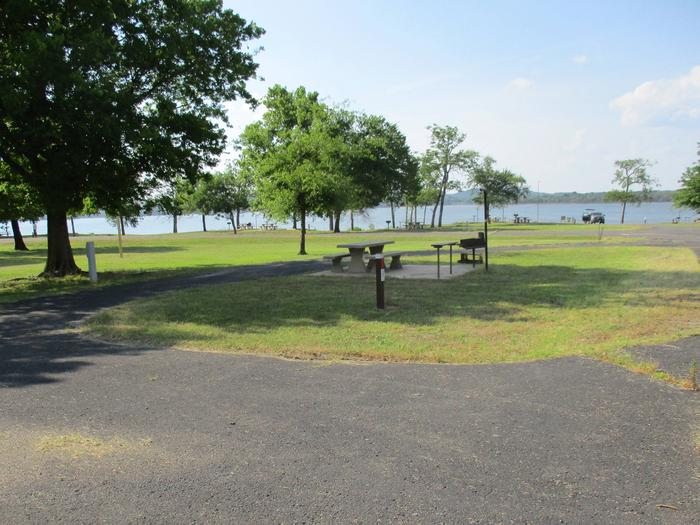 Site 10 offers excellent shade in the afternoons.Site 10 offers easy access to the volleyball poles and horseshoe pit.