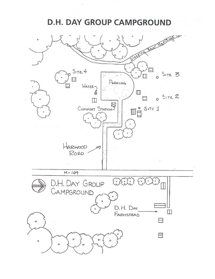 D.H. Day Group Campground Map