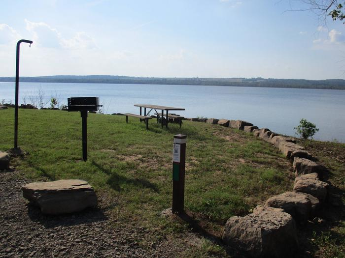 Site 31 offers an unobstructed lake view.Site 31 offers a chance to catch spectacular sunsets.