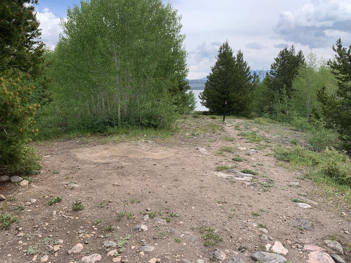 Tent pad at T01 has lake views and lake access