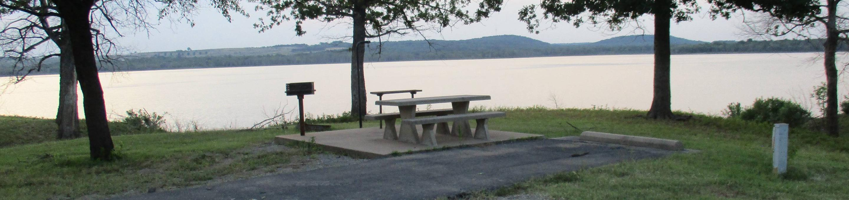 Site 17 - WildwoodSite 17 offers an excellent lake view and partial shade.