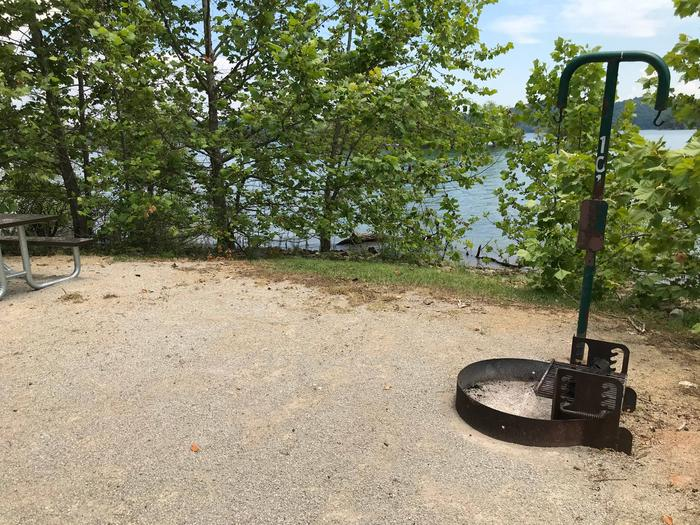 LILLYDALE CAMPGROUND SITE #101 FIRE RING AND LANTERN HANGERLILLYDALE CAMPGROUND SITE #101