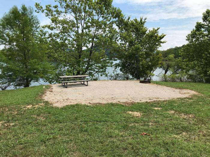 LILLYDALE CAMPGROUND SITE #103 GRAVEL TENT PAD WITH LAKE VIEWLILLYDALE CAMPGROUND SITE #103